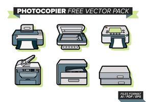 Pack de vecteur gratuit pour photocopieur