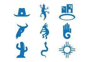 Vecteurs d'icône sud-ouest