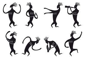Kokopelli figure danse vecteurs vecteur