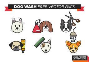 Paquet de vecteur gratuit de lavage de chien