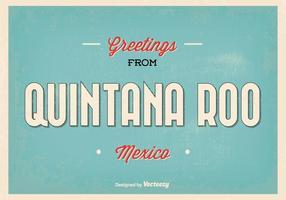 Quintana roo mexico greeting illustration vecteur