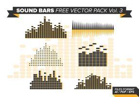 Barres de sons pack vecteur gratuit vol. 3