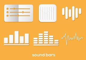 Ensemble de jeu de barres de sons vecteur