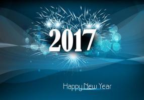 Bonne année 2017 avec Fire Cracker vecteur