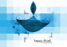 Lampe à huile de diwali à couleur bleue vecteur