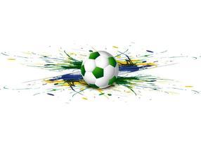Football avec aquarelle colorée vecteur