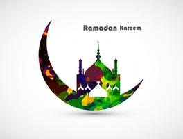 Carte décorative Ramadan Kareem