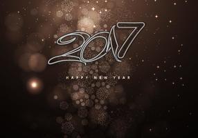 Nouvel an 2016 sur fond marron décoratif vecteur
