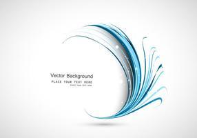Vague en cercle bleu vecteur