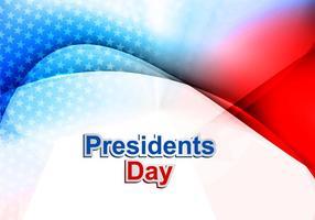 Journée des présidents aux États-Unis d'Amérique vecteur