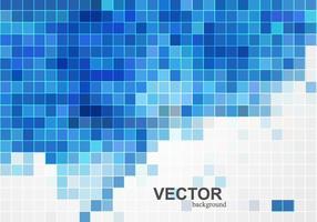 Carte avec des titres de mosaïque bleue vecteur