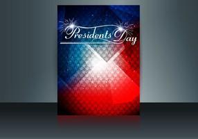 Brochure de la journée des présidents aux États-Unis d'Amérique vecteur