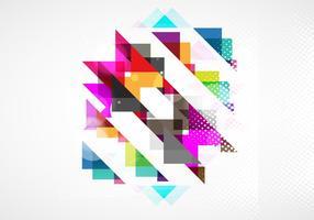 Motif coloré abstrait vecteur