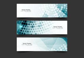 Bannières coloriées vectorielles