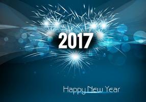 2017 Bonne fête de l'année vecteur