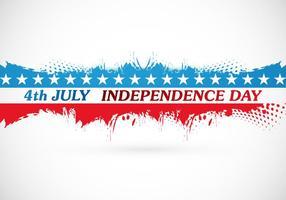 4 Juillet Carte de l'Indépendance vecteur