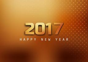 Bonne année 2017 Carte de voeux vecteur