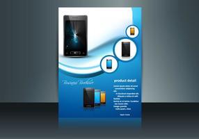 Présentation du modèle de site Web pour téléphone portable vecteur