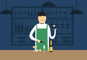 Vecteur barman