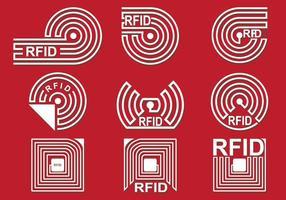 Ensemble d'icônes vectorielles RFID vecteur