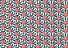 Motif marocain géométrique Bakcground vecteur
