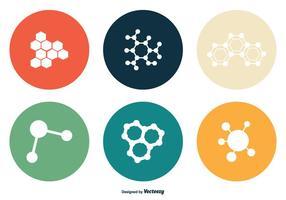 Ensemble d'icônes vectorielles de nanotechnologie