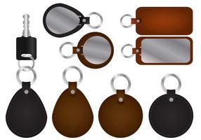 Porte-clés avec des vecteurs en cuir vecteur