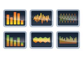 Vecteurs d'affichage des barres sonores vecteur