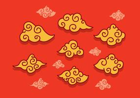 Vecteur de nuages chinois gratuit