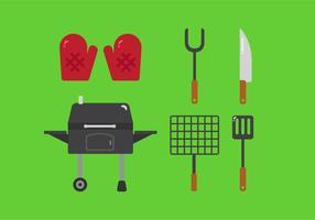 Éléments vectoriels pour grillades familiales vecteur