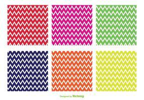 Modèles vectoriels en zigzag brillants