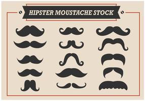 Vecteurs de stock de moustaches hipster vecteur
