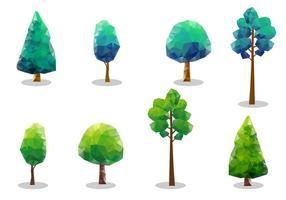 Tops d'arbres vectoriels gratuits vecteur