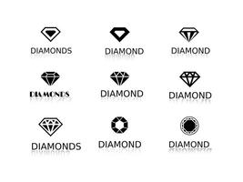 Logos de diamants vectoriels gratuits