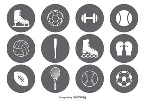 Ensemble d'icônes de sport vectoriel