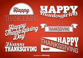 Vecteurs de signe de salutation de Thanksgiving
