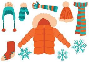 Vecteurs de vêtements d'hiver gratuits vecteur