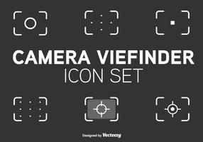 Icônes vectorielles du style de ligne du viseur vecteur