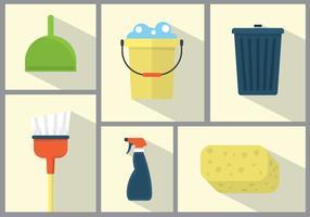 Illustrations de nettoyage de printemps vecteur