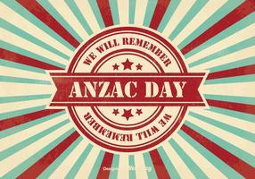 Illustration de jour Retro Anzac Day vecteur