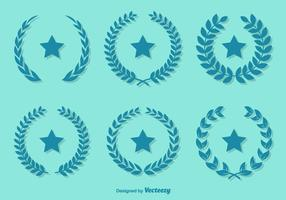 Emerald Color Vector Olive Wreaths