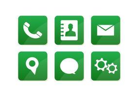 Icônes de message vectoriel