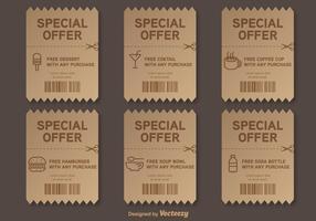 Offre spéciale Voucher vectoriel
