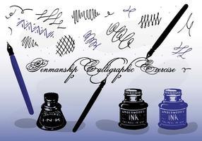 Calligraphie vectorielle gratuite vecteur
