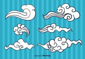 Vecteur de nuage chinois gratuit