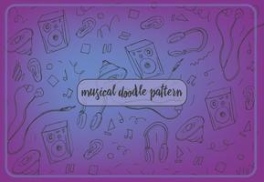 Motif musical vectoriel gratuit