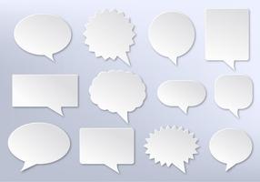Imessage vectoriel gratuit, bulles de communication blanches