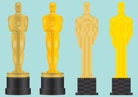 Vecteurs de statues Oscar vecteur