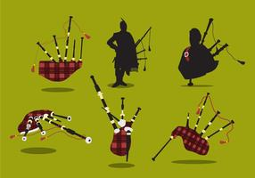 Vecteur de cornemuses écossaises