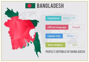 Infographie libre de vecteur Bangladesh